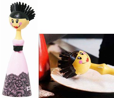 Diana-Haute couture dolls Dish Brush