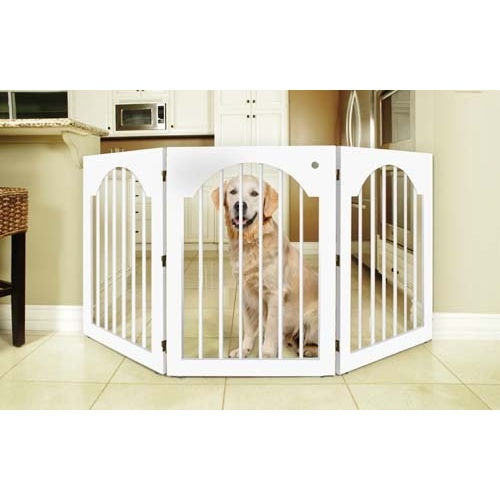 Universal Freestanding Wood Wire Pet Gate Pet Pretties K
