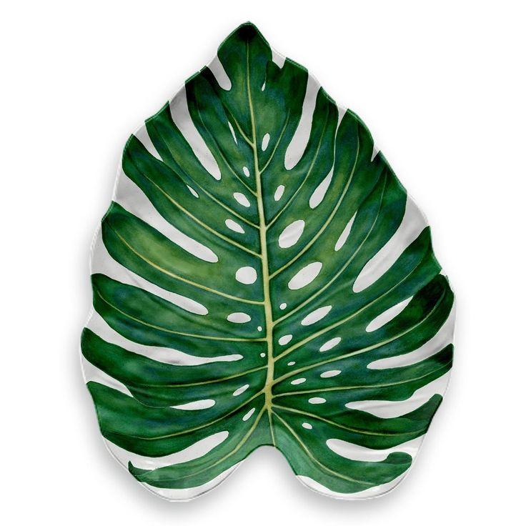 Amazon Monstera Leaf Platter 18 1 X 14 6 X 1 9 Melamine Kt Supply Llc In 2020 Monstera Leaf Monstera Tropical Leaves