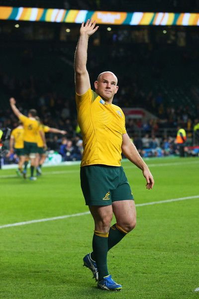 Stephen Moore Photos - Stephen Moore of Australia celebrates after winning the 2015 Rugby World Cup Semi Final match between Argentina and Australia at Twickenham Stadium on October 25, 2015 in London, United Kingdom. - Argentina v Australia - Semi Final: Rugby World Cup 2015