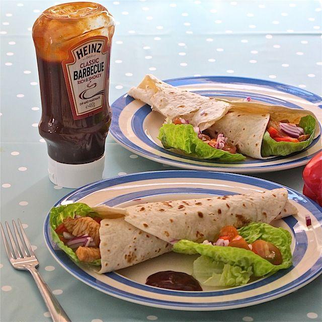 Turkey wraps with Heinz barbecue sauce marinade #cbias