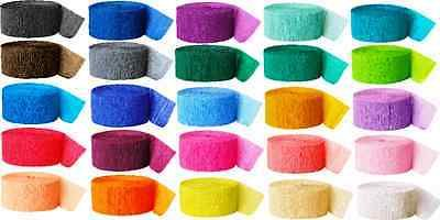 81 FT CREPE PAPER STREAMER 26 COLOURS PARTY BIRTHDAY DECORATION ROLLS WEDDING