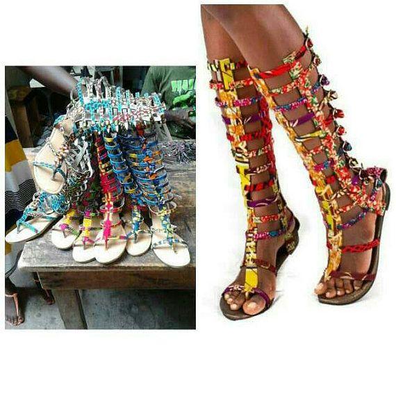 Africaine impression Gladiator Sandals / par BGDesignsAfrica
