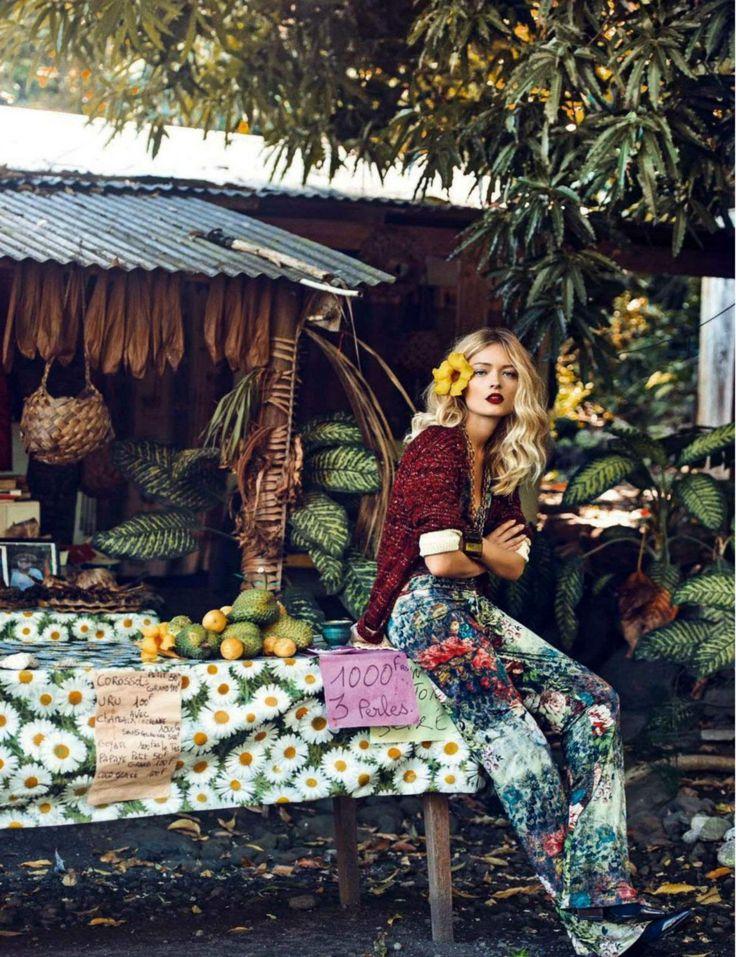 Glamour Italia August 2014 | Olga Maliouk by Signe Vilstrup [Editorial]