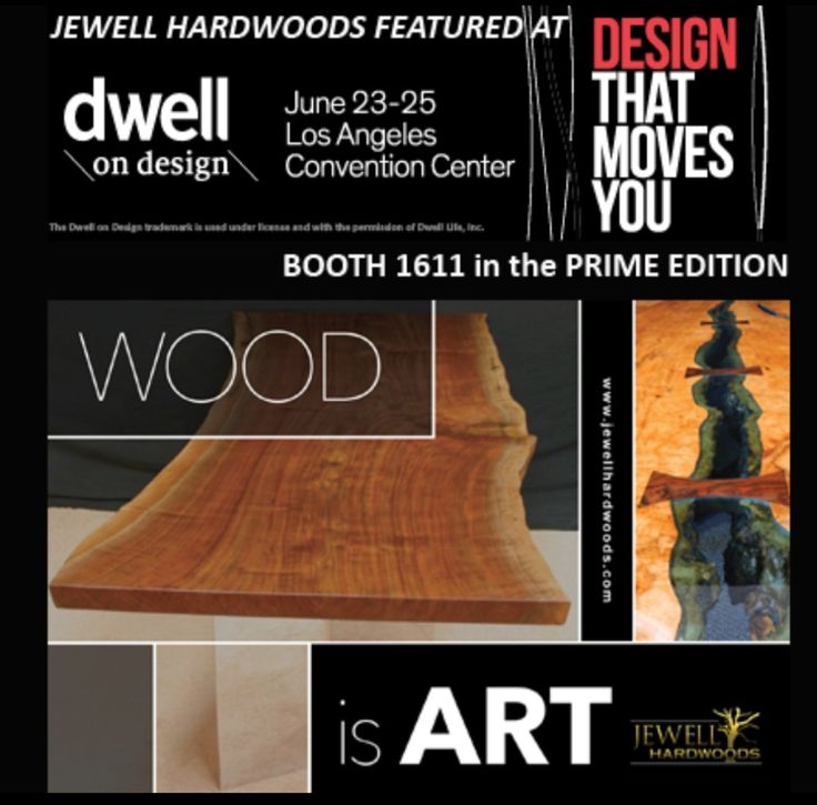 It's time for LA to meet #jewellhardwoods in person! We have so many clients in California who have been asking us to bring more of our beautiful Custom Furniture to Cali.  We will be showcasing some of our new collections at the #DODLA17 show at the LA Convention Center June 23-25th.   You can find us at booth #1611 in the Prime Edition. CLICK ON LINK FOR FREE TICKET!   Come be our guest and meet top #designers from all over the world.