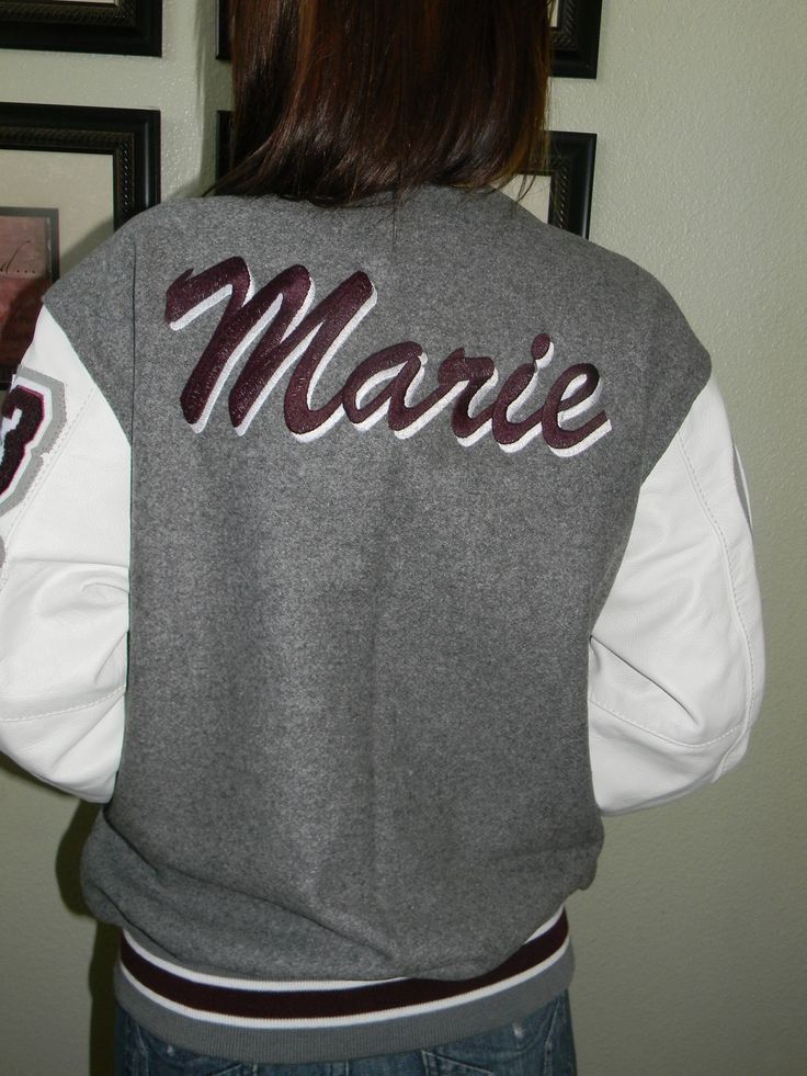 Each letterman jacket is custom made - make your jacket YOU-nique!