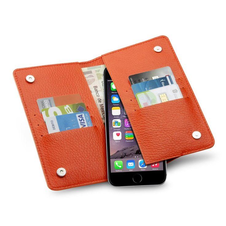Cartera para teléfono,  ideal para transportar tu iPhone, tarjetas y efectivo. #KoonArtesanos2017 #Articulosdepiel #regalos #teléfono #fundaparateléfono #piel