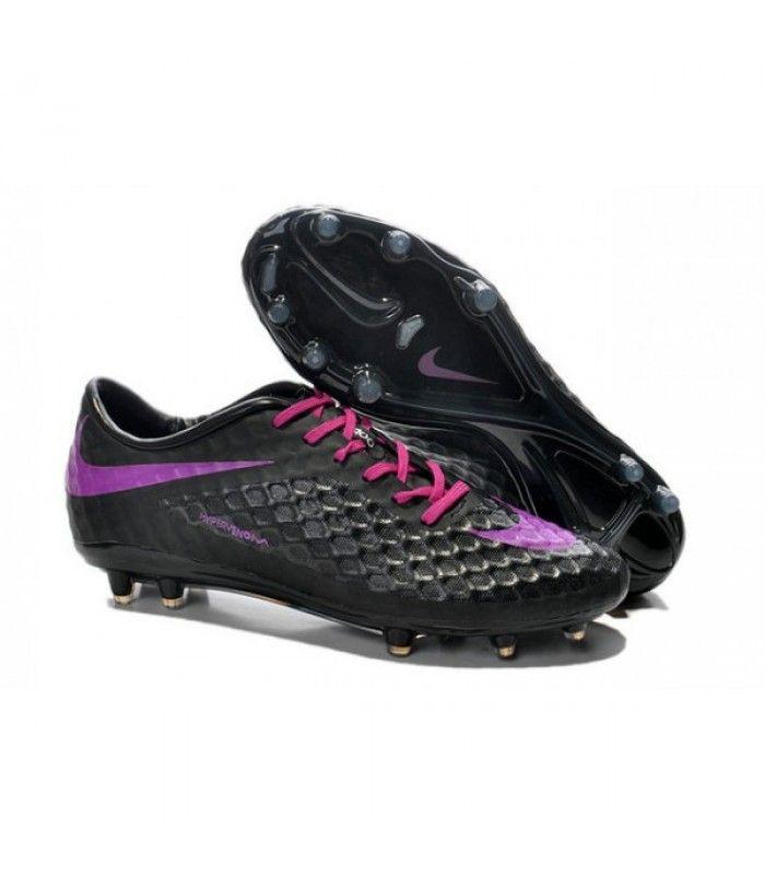 Acheter Chaussure de Football Nike Hypervenom Phantom FG ACC Noir Violet pas cher en ligne 91,00€ sur http://cramponsdefootdiscount.com