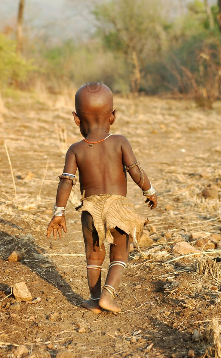 Africa ~ A Mursi Child ~ Omo Valley, Southern Ethiopia ~ ©Jeff Arnold