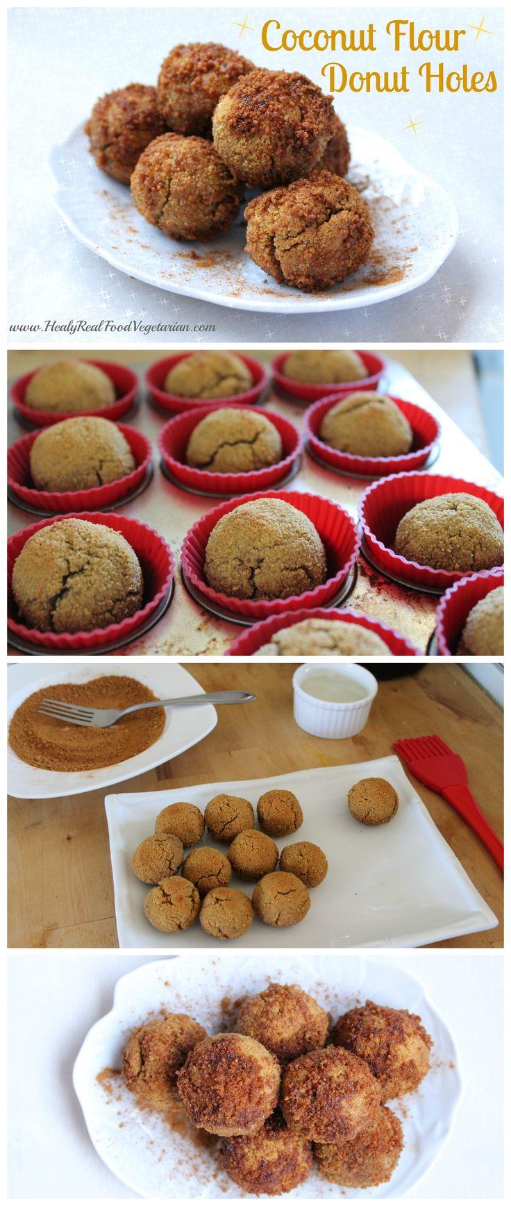 Coconut Flour Donut Holes @ Healy Real Food Vegetarian
