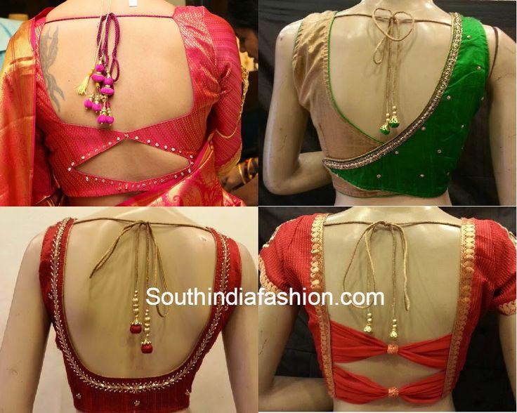 saree blouse back neck patterns