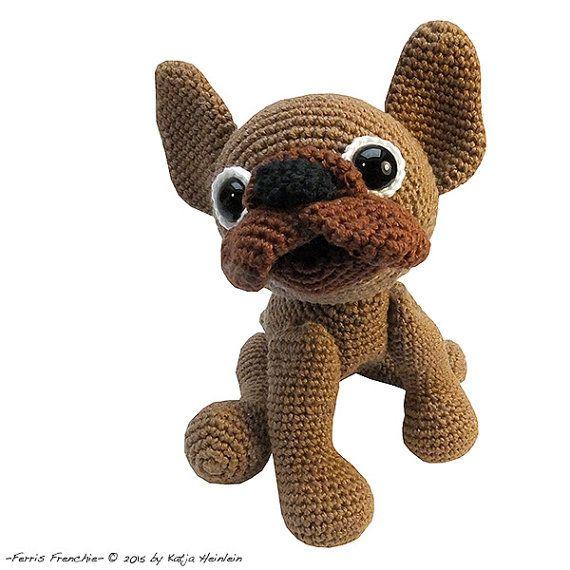 amigurumi dog french bulldog PDF crochet pattern by designshop