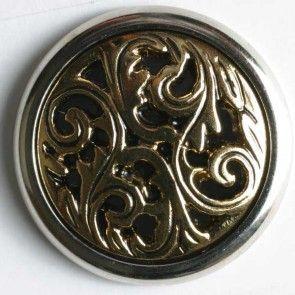 polyamide button Size: 15mm Color: antique gold-290248-20