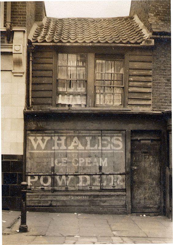 Whales' ice cream shop, 13a Poplar High St, London c. 1900