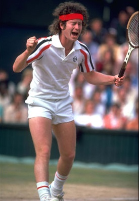 John McEnroe - Not a boring moment watching and listening to him...