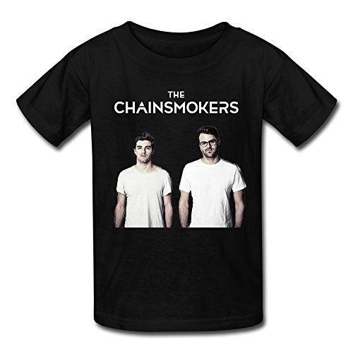 Youth The Chainsmokers Band Art Logo Kids Boys And Girls T-Shirt - Black