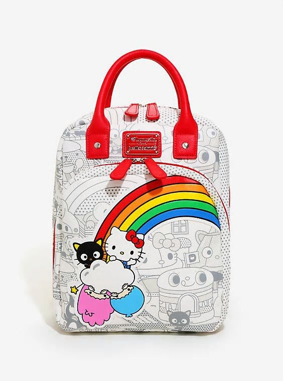 7229bba26 Details about New Loungefly Hello Kitty Sanrio Retro Mini Backpack ...