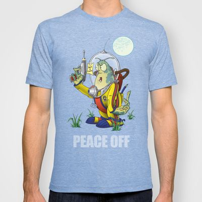 Peace Off! T-shirt by Nameless Shame - $22.00
