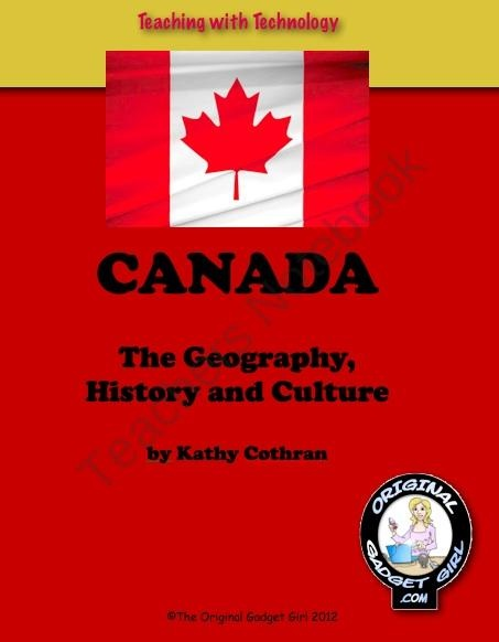 The Study of Canada: The Geography, History & Culture; Teaching with Technology product from Teaching-with-Technology on TeachersNotebook.com