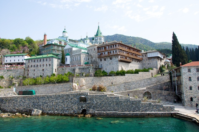 Mount Athos, Greece: 19. Agiou Panteleimonos monastery (Saint Pantelemon; Пантелеймонов; or Ρωσικόν, Rossikon) – Russian Orthodox