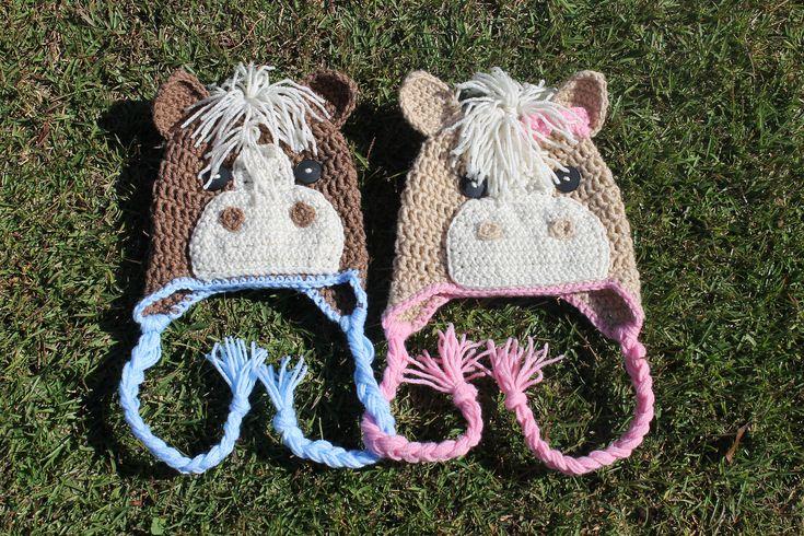 Ravelry: Crochet Horse Beanie by Knick Knack Krafty Shack
