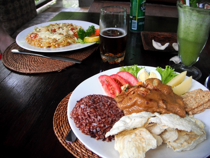 So good! Cafe Wayan in Ubud, Bali :)  We ate there on our honeymoon!!