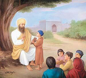The second Guru-Guru Angad dev ji personally educated the underpriviliged children in the Gurmukhi script. The undeveloped Punjabi language was polished and modified by the Guru Himself, so it is known as Gurmukhi i.e. 'that which is spoken through the mouth of the Guru'