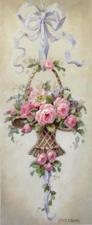 """Marche Aux Fleurs, Christie Repasy, 10"""" x 24"""""""