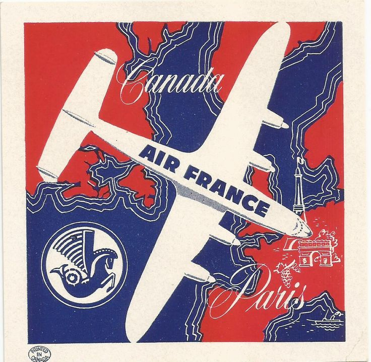 Air France Airlines Luggage Deco Label | eBay