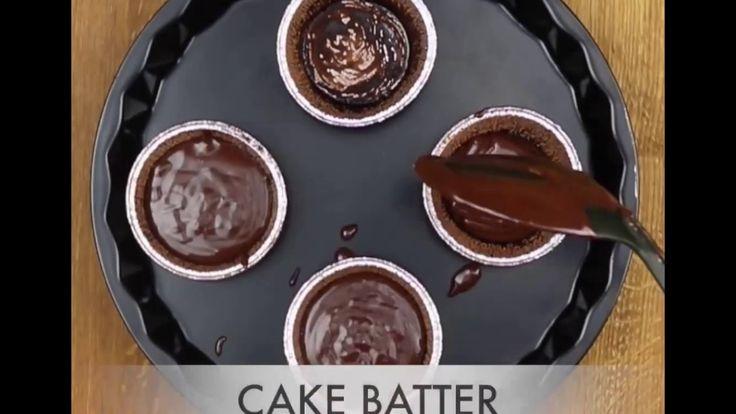 Eggless Choco Lava Cake Recipe In Hindi