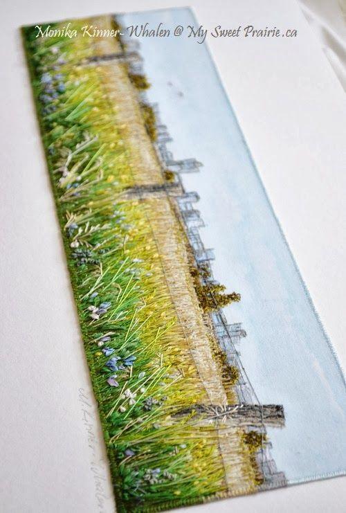 My Sweet Prairie , Monika, some free motion with stitching