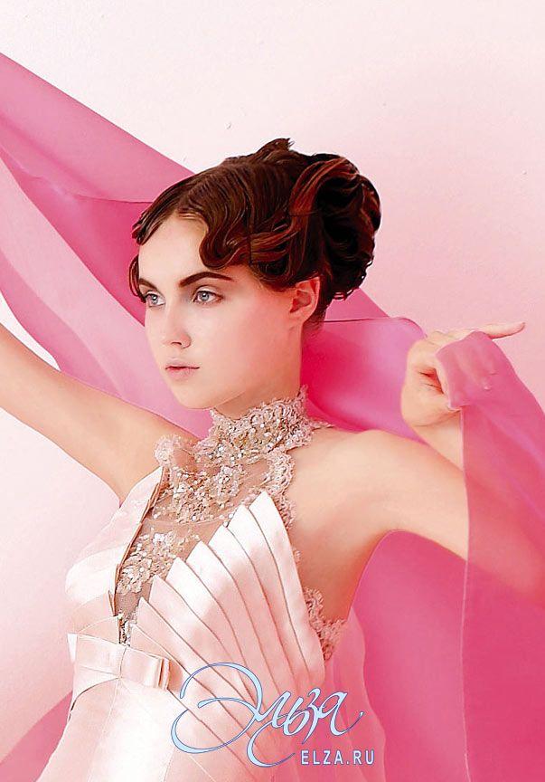 Cвадебное платье 4155: а-силуэт, винтажный стиль, длинное платье, с американской проймой, с непышной юбкой, со шлейфом, модель до 2016 года, без рукавов, платье, эксклюзивное в Москве, в ограниченном количестве, основная ткань: кружево, микадо