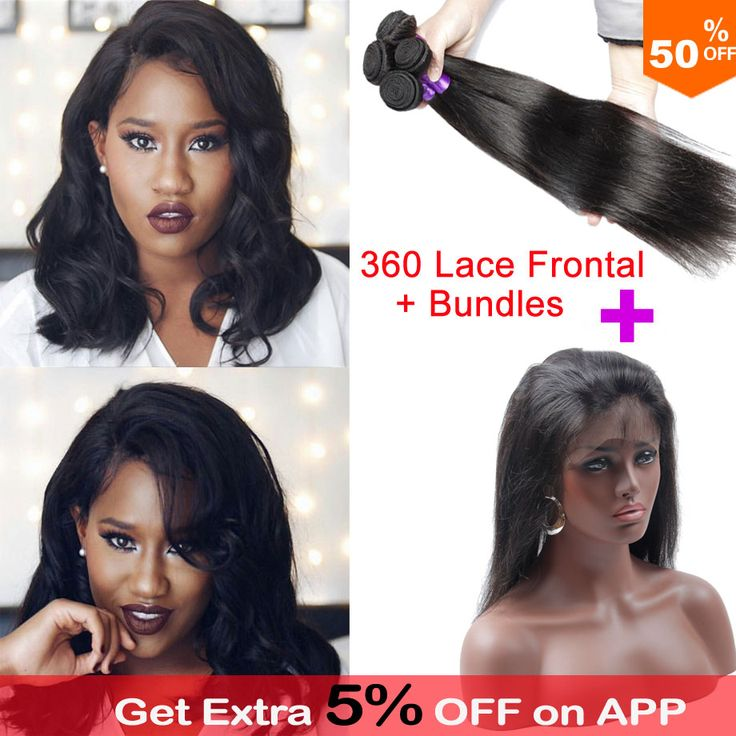 Pre Gezupft 360 Frontal Mit Bundles 360 Spitze Frontal Mit Bundle Brasilianisches Gerades Haar 360 Spitze Reines Haar Mit Bundles