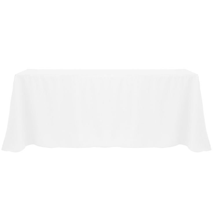 Solid Color 90x132 Inch Vibrant Oval Tablecloth (White)