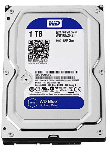 WD Blue 1TB Desktop Hard Disk Drive 5400 RPM SATA 6 Gb s 64MB Cache 3.5 Inch WD10EZRZ