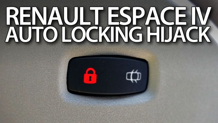 How to activate anti-hijack #feature in #Renault #Espace IV auto locking #safety #cars