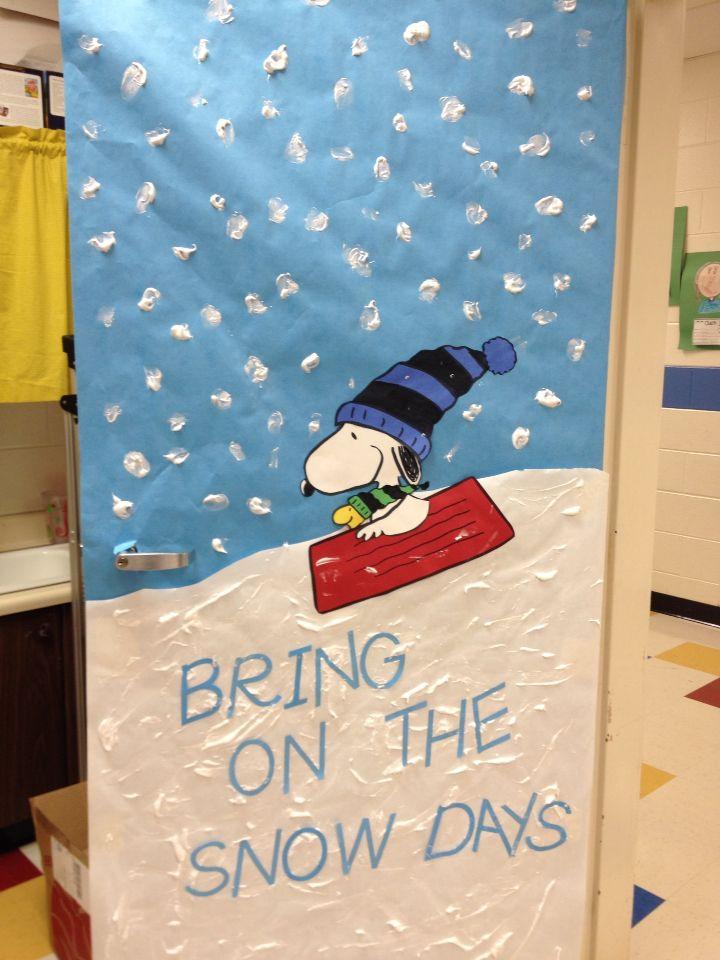 Winter Classroom Door I Love Snoopy Winter Is Coming