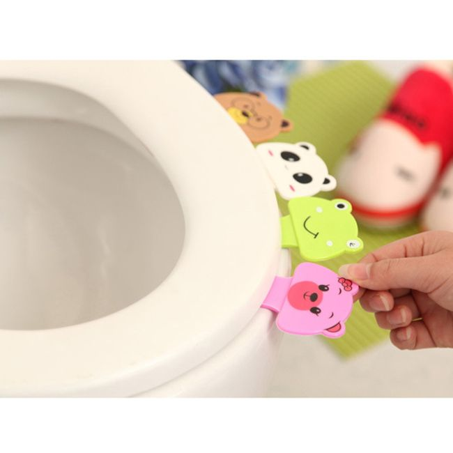 Cartoon Toilet Lid Lifting Device Seat Cover Handle House Bathroom Product