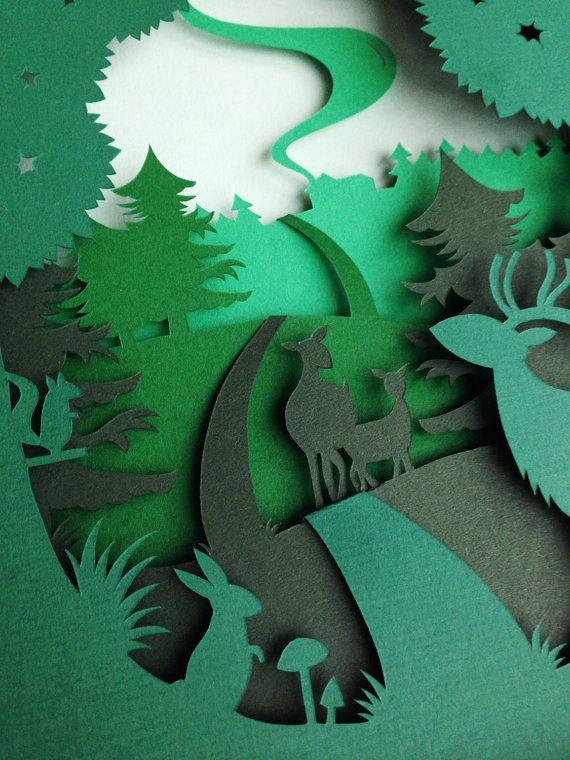 Paper sculpture / Paper Art / Paper Cut by AtelierPerTwee on Etsy