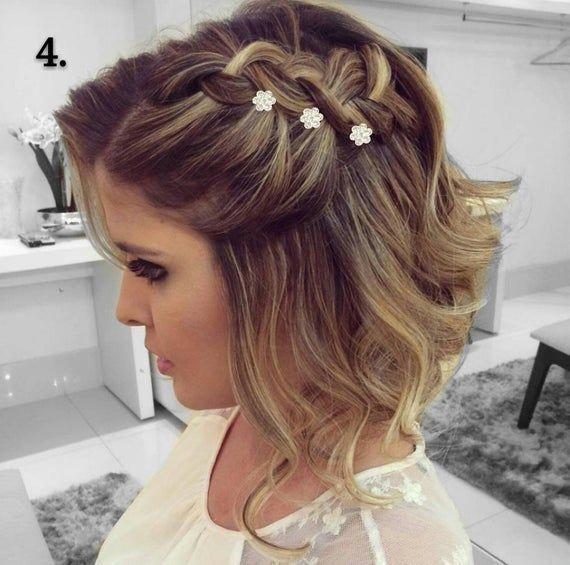 Bridal hair clip 2 with rhinestone flower, bridal hair pins, Swarovski rhinestone wedding hair brooch twin-set, hair clip