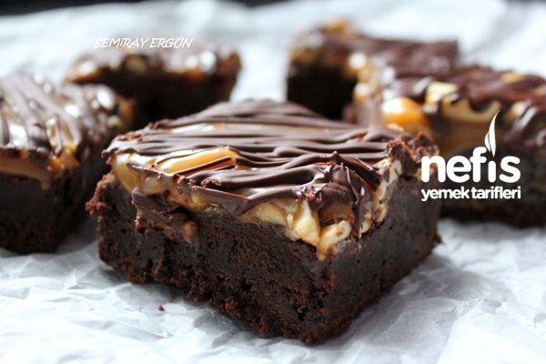 Yer Fıstıklı Karamelli Brownie