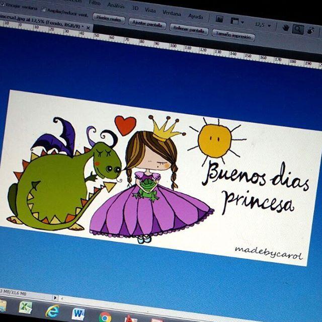 Ya esta!!!! 😊 Aunque la mayoría quería que a la princesa  le acompañara un dragón, tb he querido dibujar un pequeño sapete 😊... Os gusta?  #sapo #dragon #buenosdiasprincesa #princesa #madebycarol #ilustraciones #illustration #ilustracionespersonalizadas #amorparasiempre #principe #cuento #relatos #art #arte #cuentameuncuento #amorverdadero #princesabella