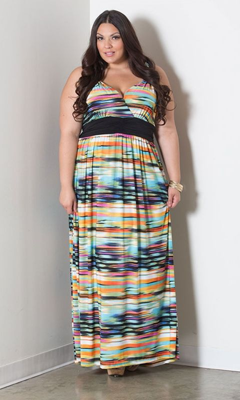 #plussize Maya Maxi Dress at Curvalicious Clothes  #bbw #curvy #fullfigured #plussize #thick #beautiful #fashionista #style #fashion #shop #online www.curvaliciousclothes.com TAKE 15% OFF Use code: TAKE15 at checkout