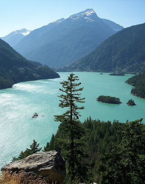 North Cascade National Park Washington state- Lake Diablo