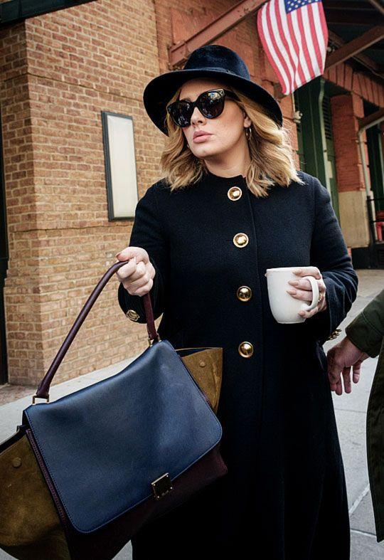 Adele leaving her hotel in New York City on November 24, 2015.