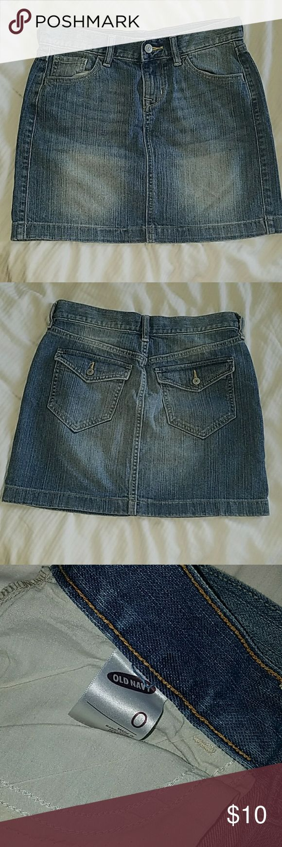 Used 1x only. old navy jean mini skirt. Size 0. Used 1x. Jean mini skirt. Old Navy Skirts Mini