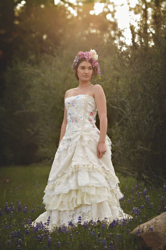 Wildflower Wedding Gown Renaissance Romance by HopefullyRomantic