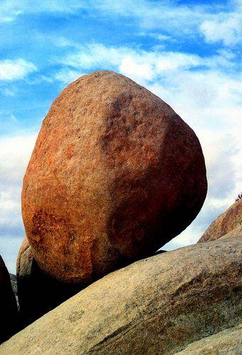 Perfect Balance Boulder, California Desert