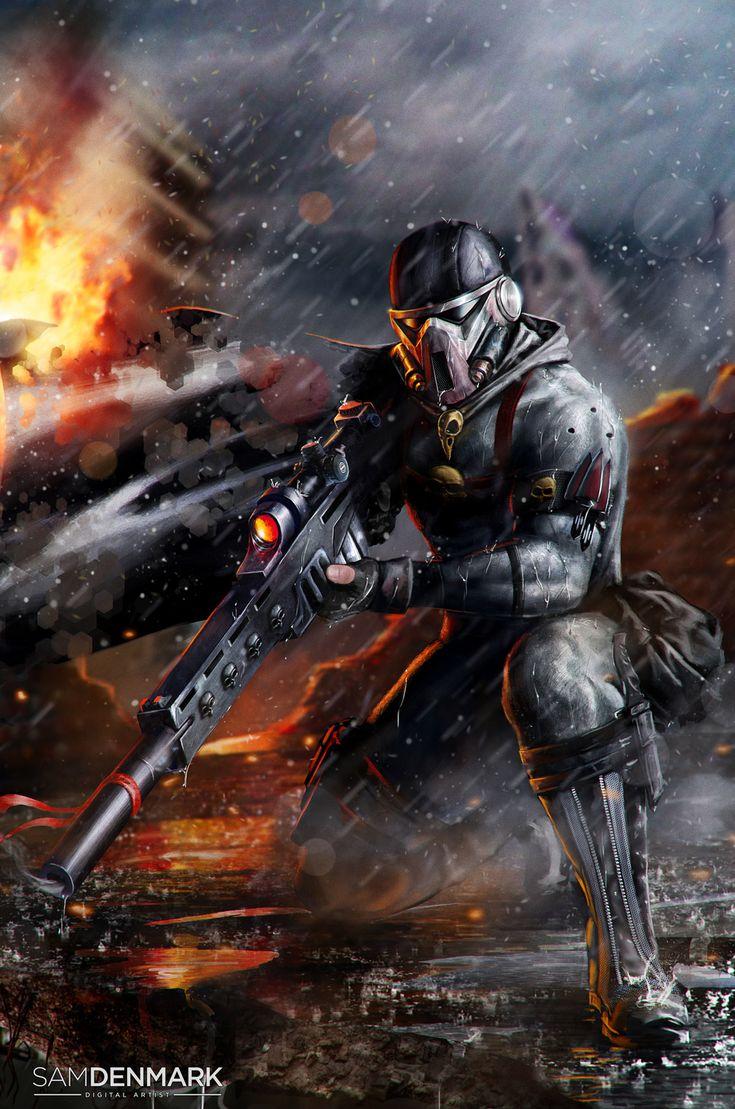 wh40khq:  Vindicare Assassine by SamDenmarkArt