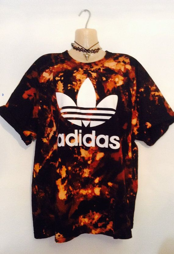 I don't like the color but it's still cool. Unique acid wash old skool adidas tshirt by ILOVEPARADISEGARAGE